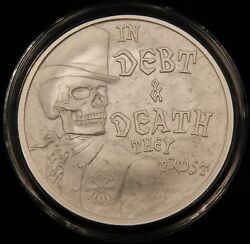 2017 Debt And Death V3 1 Oz Half Proof Sbss. Death Of The Dollar 2 Members Only
