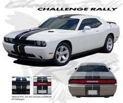 Rally Racing Stripes Hood Graphic 3m Grade Vinyl Decals For Challenger 2011-2014