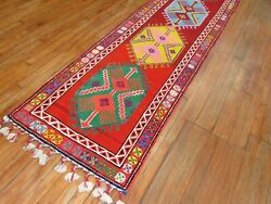 Vintage Turkish Oushak Ushak Anatolian Rug Runner Size 2and0398and039and039x12and0399and039and039