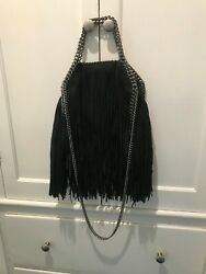 Authentic Designer Stella McCartney Falabella Mini Fringe Bag w Dust bag