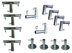 1 Pipe Side Canopy Fittings For 10and039 X 10and039/20and039/30and039/40and039 Carport Canopy Farm Shed