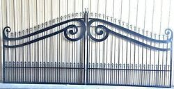 Gate Sale Inc Post Pkg Driveway Gate 14and039 Or 16and039 Wd Steel Garden Home Security
