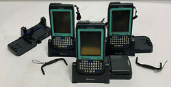 Lot Of 6 Intermec Cn3ni Pocket Pc Mobile Computer W/ Ad-10 Chargers