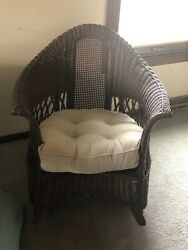 3 Piece Set Antique Wicker Kane Merikord Brand And Sold By American Chair Co.