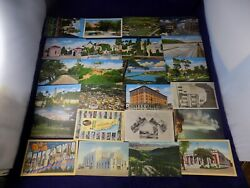 Vintage Lot Of Unused Post Cards 1930's 137pc Different States And Topics +extra