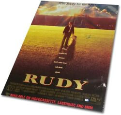 Sean Astin Signed Autographed Full Size Movie Poster Rudy Gv862927
