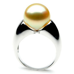 New Genuine Pacific Pearls® AAA 13mm Australian Golden  South Sea Pearl Ring