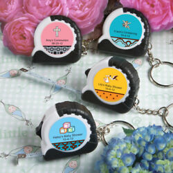 30-250 Personalized Key Chain / Measuring Tape - Baby Shower Baptism Party Favor