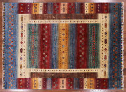 Gabbeh Hand Knotted Wool Rug 5' 9 X 7' 9 - P9197