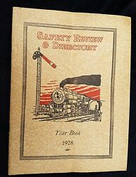 1928 Railroad Yearbook Safety Review Directory 6 Et Locomotive Brake Equipment