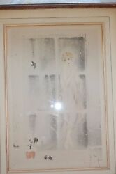 Original Louis Icart Drypoint Etching Chilly Ones Paris 1924