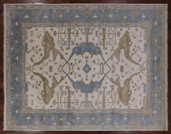 9' 3 X 11' 11 Turkish Oushak Hand Knotted Area Rug - Q1426