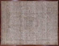 Vintage White Wash Handmade Area Rug 9and039 10 X 12and039 5 - Q2083