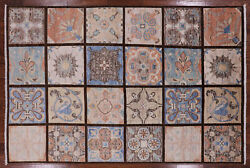 Stained Glass Design William Morris Hand Knotted Rug 6' 2 X 9' 2 - Q1863