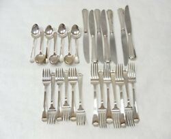 Gorham Sterling Silver 26pc Fairfax Pattern Flatware 7 Piece Set