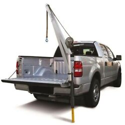 Truck Crane And Receiver Hitch - 20ft Strap - 700 Lbs Capacity - 4ft Boom - Manual