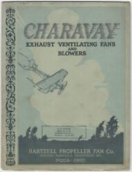 1929 Charavay Industrial Exhaust Ventilating Fans And Blowers Trade Catalog