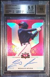 2017 LEAF VALIANT RONALD ACUNA JR Red Superfractor Auto RC REAL 11 RC BGS 9.5 1