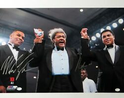 Muhammad Ali Mike Tyson Signed Autographed 16x20 Photo W/don King Oa 8281709