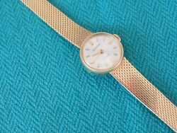 Jaeger-lecoultre Ladies 18k Yellow Gold Wind-up Watch 6 18 Mm