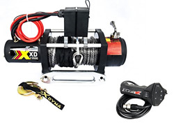XDYNA 13500 Lbs Waterproof Winch with Adjust Torque Limited Protector Remote to
