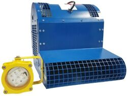 Loading Dock Fan And Light - 3200 Cfm - 230/460v - 3/4 Hp - Wall Mount - 60and039 Throw