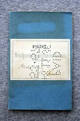 1892 New Bedford Institution For Savings Bank Book Register Banking Account