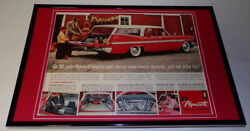 1959 Plymouth Wagon Framed 11x17 Original Vintage Advertising Poster