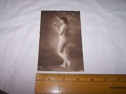 Very Old Antique Nude Postcard - Risque - With Flower - Made In Germany - Lot H