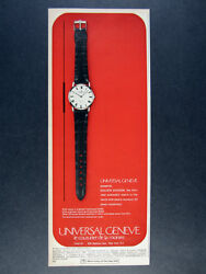 1966 Universal Geneve Golden Shadow Automatic Watch Vintage Print Ad