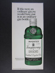 1967 Tanqueray Special Dry Gin Bottle Art Vintage Print Ad