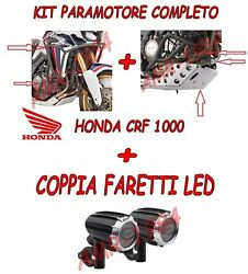 Set Givi Crash Bar Complete + Sump Guard + Spotlights Led Honda Crf 1000