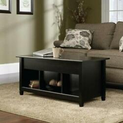 Lift up Top Coffee Table w Hidden Storage Compartment amp; Shelf Black