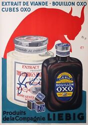 Moos Carl Vintage Poster Liebig Oxo Broth With Meat Extract - Cir 1920