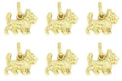 Six 14K Gold Scottish Terrier Dog Charms 9mm