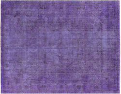 Overdyed Hand Knotted Wool Area Rug 9and039 10 X 12and039 8- H9603