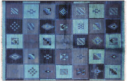 Ikat Hand Knotted Wool Area Rug 5' 4 X 8' 1 - H8822