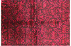 6' 1 X 8' 10 Full Pile Overdyed Hand Knotted Rug - P5141