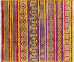 8' 4 X 9' 8 Moroccan Hand Knotted Wool Navajo Rug - P4915