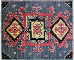 8' 6 X 10' 2 Ikat Hand Knotted Area Rug - P6308