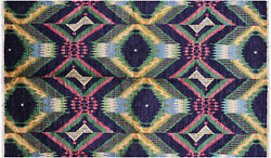 5' 3 X 8' 5 Hand Knotted Ikat Area Rug - P6491