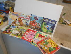Vtg. 1970s And 80s Disney Films 101 Dalmatians, Pete's Drag+ Book And 45 Rpm Records