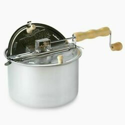 Wabash Valley Farms The Original Whirley Pop Stove Top Popcorn Popper 6 Qt