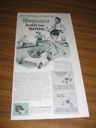 1955 Print Ad Worcester Lawn Mowers Briggs And Stratton Engines Chicopee Falls,ma