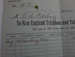1902 New England Telephone And Telegraph Co West Derry New Hampshire Letterhead