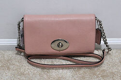 NWT Coach Crosstown Crossbody in Pebble Leather in Blush Pink 53083 MSRP $195 $118.00