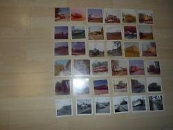 Old Vtg Lot 36 Real Photographs Electric Railway Railroad Trains Trolleys