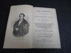 Antique 1855 Book Earnest Christianity Rev. James Cauchey First Edition... Rare