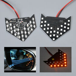 2 X 27 Smd Led Rear View Side Mirror Sequential Arrow Panel Turn Signal Light