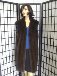 BRAND NEW CANADIAN SABLE FUR VEST JACKET COAT WOMAN WOMEN SIZE ALL